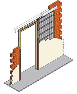 Casonetos hueco sencillo - Puertas correderas empotradas en tabique ...